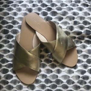 💫 Rays Atmore Gold Slides